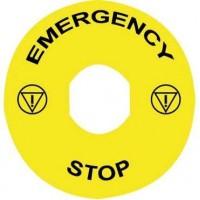 Маркировка для грибов. кнопок аварийного останова EMERGENCE\STOP