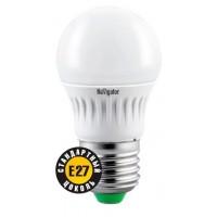 Лампа светодиодная 7 Вт 230В Е27 шарик, тёплый белый 94 467