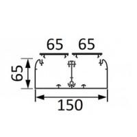 Угол плоский DLP 65х150