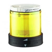 Сегмент световой колонны постоянного свечения жёлтый 70мм со встроенной LED подсветкой 24В AC/DC