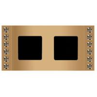 Рамка 2 поста velvet золото Swarovski