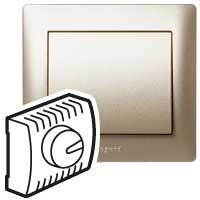 Накладка  для светорегулятора поворотного 1000 Вт титан Galea Life