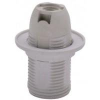 Патрон Е14 с кольцом, термостойкий пластик, белый