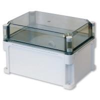 Корпус 400х400х195 (выс.крышки 70) сплошные стенки, прозрачная крышка, IP67