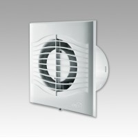Вентилятор осевой 250 куб.м/час 29 Вт 220 В для настен. и потолоч.монтажа (диам.шахты 150мм)  с обрат.клапаном серия  SLIM