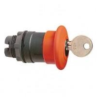 Головка кнопки 22 мм аварийного останова с возвратом ключем красная