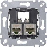 Механизм компьютерной розетки 2хRJ45 кат6a STP