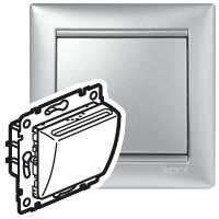Выключатель карточный для отелей алюминий Valena