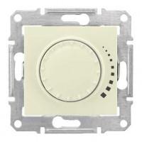 Светорегулятор поворотно-нажимной 60-500Вт бежевый Sedna