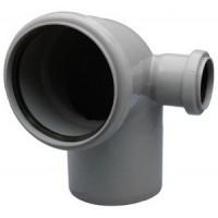 Отвод канализационный 110х50/90 левый Политек