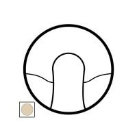 Накладка для вывода кабеля слоновая кость Celiane