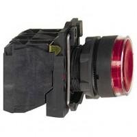 Кнопка красная 22 мм 1НО+1НЗ со встроенной LED подсветкой 230- 240В с возвратом