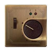 Накладка для терморегулятора с датчиком античная латунь System Disign