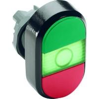 Кнопка двойная (зеленая/красная) зеленая линза с текстом (START/STOP) тип MPD4-11G