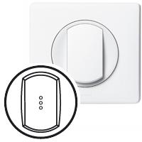 Клавиша для выключателя/переключателя 1 клавишного с индикацией белый Celiane