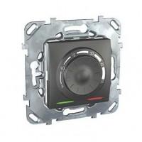 Термостат электронный 8А от+5 до +30 С графит Unica Top