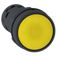 Кнопка желтая 1НО с возвратом