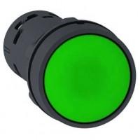 Кнопка зелёная 1НО с возвратом