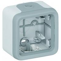 Коробка 1 пост, серый IP 55 Plexo