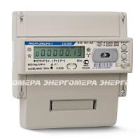 Счётчик 3ф. 2-х тар. акт.эн. 5-100А 380В кл.1 ЖК-дисп. DIN-рейка оптопорт RS485 до 4-х тар.