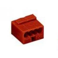 Клемма компактная 4х(0,6-0,8)мм2, темно-серая