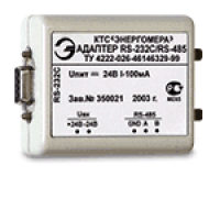 Адаптер RS-232/RS-485 24 В 0,1 А на DIN-рейку