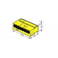 Клемма компактная 8х(0,6-0,8)мм2, желтая