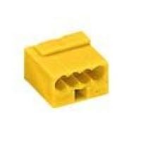 Клемма компактная 4х(0,6-0,8)мм2, желтая
