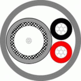 Кабель для систем видеонаблюдения 2 х 0,75 (для внешней прокладки)
