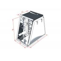 Короб угловой с поворотом вверх ККБ-УВ 0,95/0,6