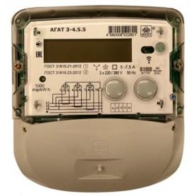Счётчик 3ф. мн.т. акт.-реакт.эн. 5- 7,5А 380В кл.1,0/2,0 ЖК-дисп. подвесной RS-485 IrDA телем.вых. до 8-тар.