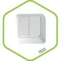 7021-W Выключатель накл 1кл BOLLETO белый ASD (1100)