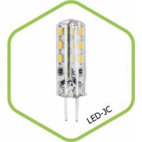 Лампа светодиодная LED JC standard 1.5Вт 12В G4 3000К 120Лм ASD