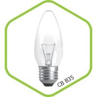 Лампа накаливания СВЕЧА B35 40Вт 220В Е14 МТ  380Лм ASD