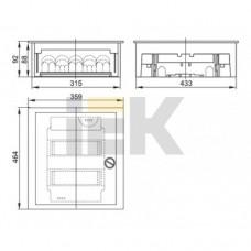Щит учетно-распределительный встраиваемый IEK MKM35-V-30-31-1-ZO
