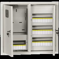 Щит учетно-распределительный навесной под 3-ф.сч-к + 48мод.двух двер.с замком и окном