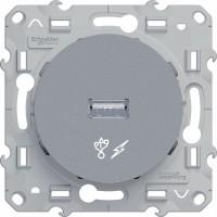 USB розетка алюминий Odace