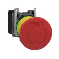 Кнопка аварийной остановки возврат поворотом 1НЗ триггерного действия металл. SchE