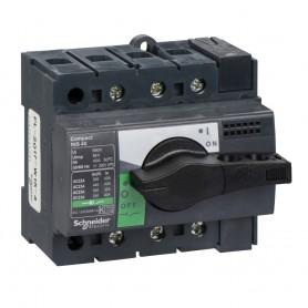Выключатель-разъединитель 3-пол. 40А с черной ручкой INTERPACT INS40