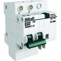 Выключатель автоматический дифференциального тока 2п C 25А 300мА тип AC 4.5кА ДИФ-101 DeKraft