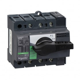 Выключатель-разъединитель 3-пол. 80А с черной ручкой INTERPACT INS80