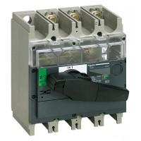 Выключатель-разъединитель 3-пол. 630А с черной ручкой INTERPACT INV630