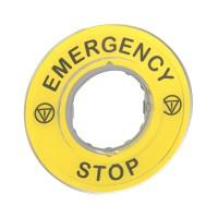 Маркировка 3D EMERGENCY STOP SchE