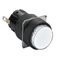 Лампа сигнальная LED 24В круг. бел. SchE