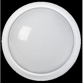 Светильник светодиодный ДПО 3030Д 12Вт 4500K IP54 круг белый пластик с ДД IEK