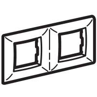 Рамка на 2+2 модуля двухместная , слоновая кость
