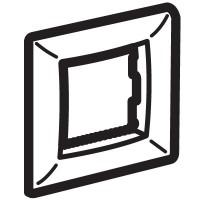 Рамка на 2 модуля одноместная , черная