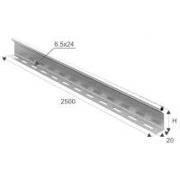 Перегородка в лоток В80мм длина 2,5м
