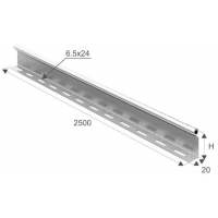 Перегородка в лоток В50мм длина 2,5м