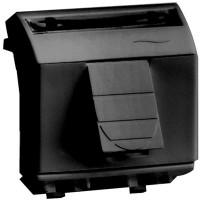 Компьютерная розетка RJ-11 RJ-45 кат.5Е мод PcNet.код 052-015 черный, 2мод.